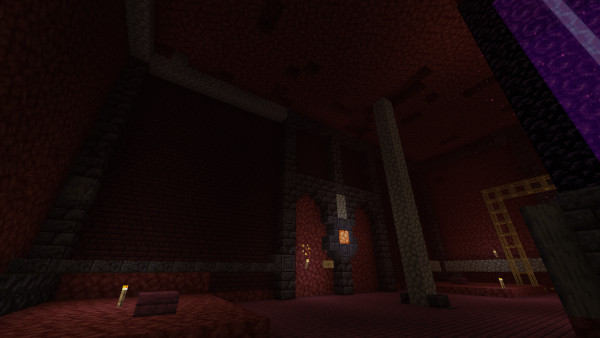 1.16 Nether Hub: First wall completed