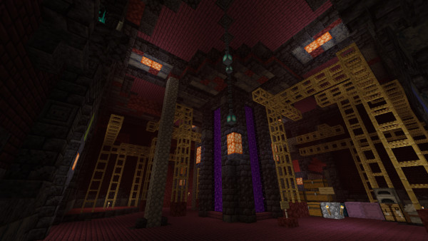 1.16 Nether Hub: Main room nearing completion